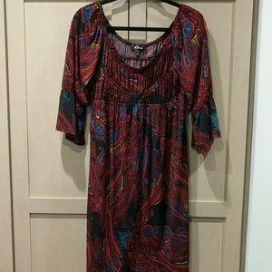 Boho AGB empire 👗 dress w/ bell sleeves